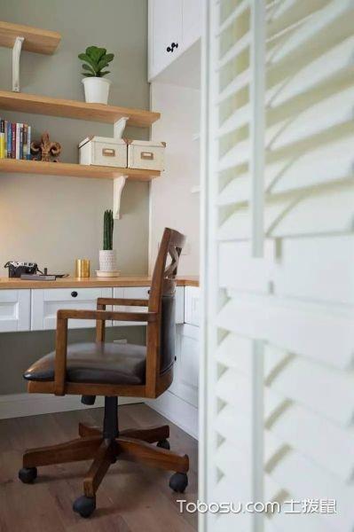 美式乡村 三室两厅蓝绿色系案例_装修图片 - 装修效果图