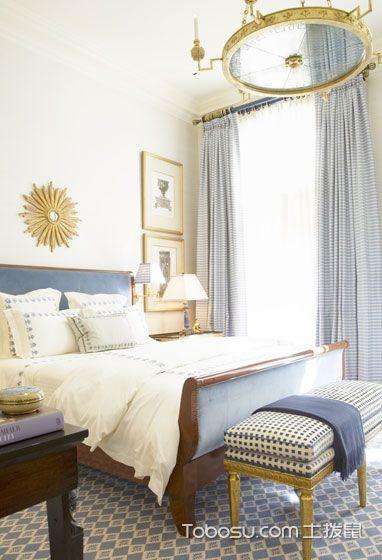 美式卧室效果图 13款纯色调风格推荐 _装修图片 - 装修效果图