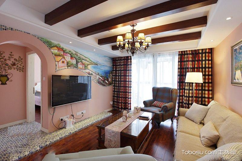 美式风格小户型105平米室内装饰