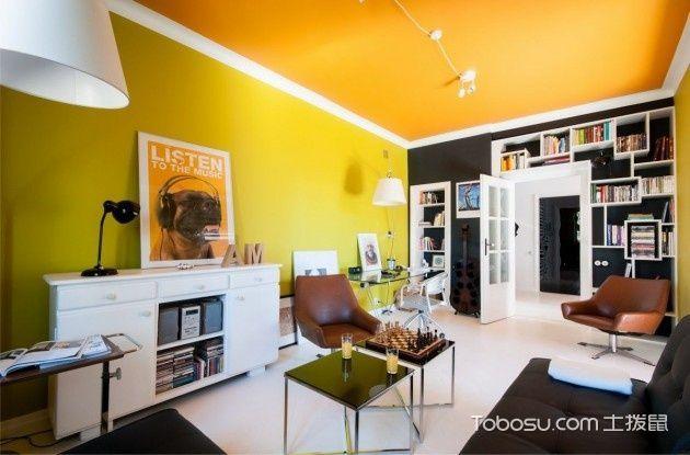 美式简约风格一居室装修设计图片_装修图片
