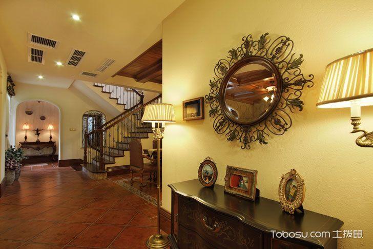 美式风格复式家居室内装修图片_装修图片