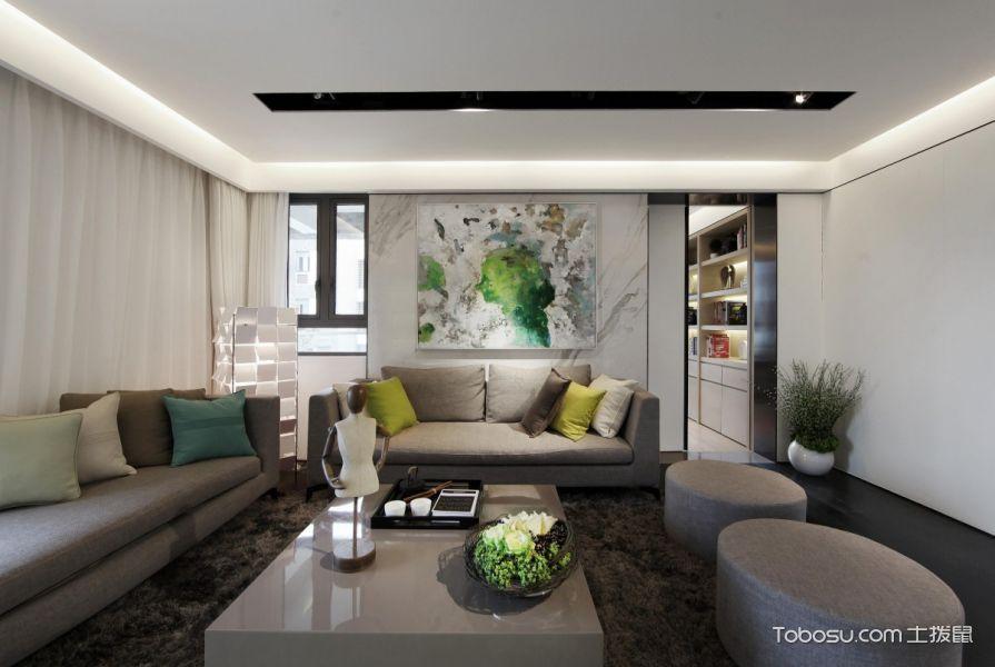 绿色清新生活 现代风118平二居设计_装修图片