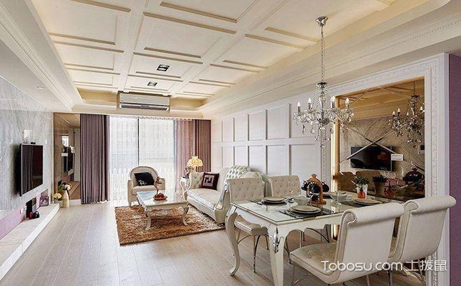 简欧风格三居室150平米装修设计图片