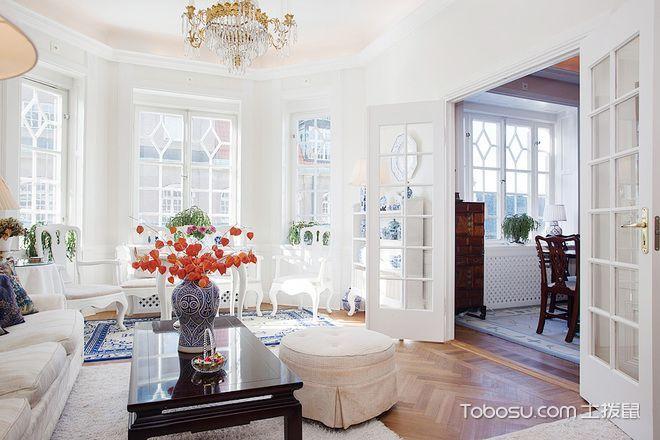 浪漫复古优雅美式乡村风格两居室设计_装修图片