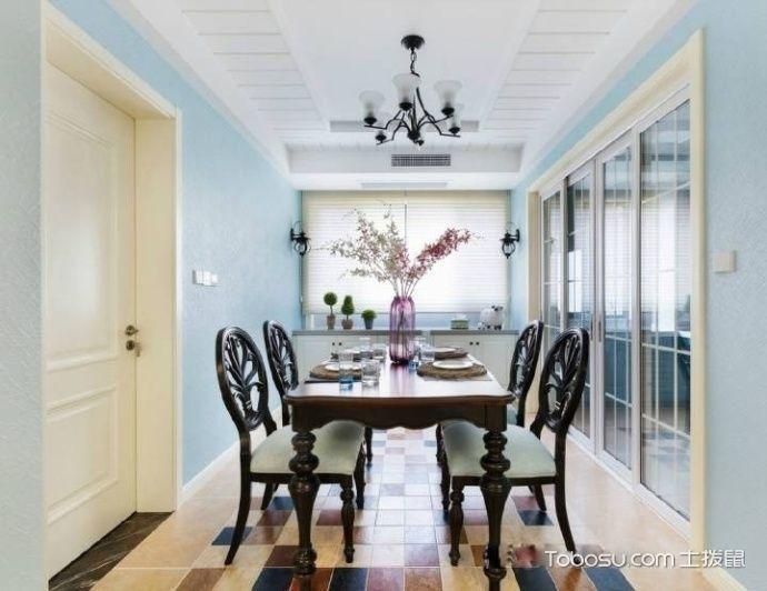 蓝色大海的传说 135平米美式三居室_装修图片