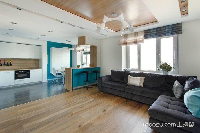 公寓95平米简约风格效果图图片