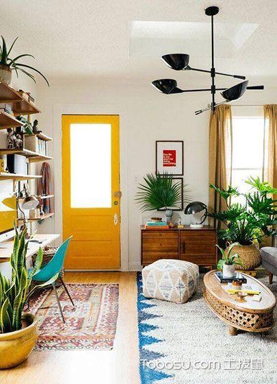 客厅色彩搭配装修效果图_装修图片