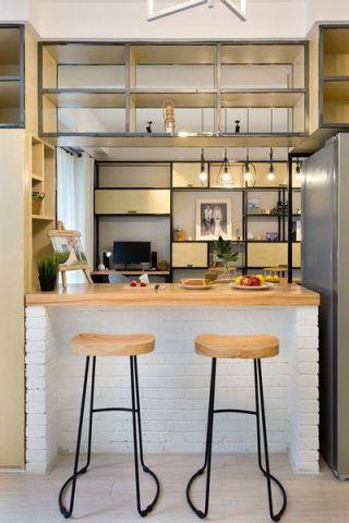2019混搭厨房装修图 2019混搭吧台装修设计图片