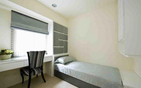 卧室白色书桌装潢图片