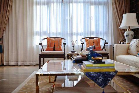 2019新中式客厅装修设计 2019新中式窗帘装修效果图片