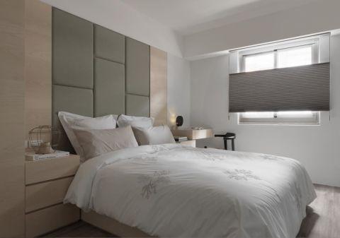 卧室灰色背景墙装饰实景图片