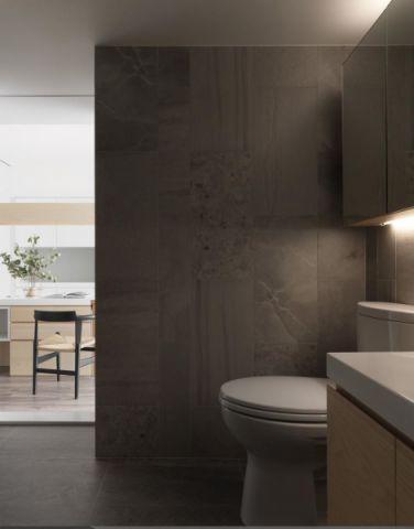 朴素温馨简约灰色背景墙装修效果图