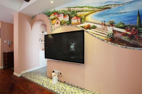 2019美式客厅装修设计 2019美式电视背景墙装修设计图片
