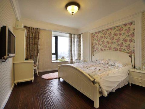 卧室床美式平面图