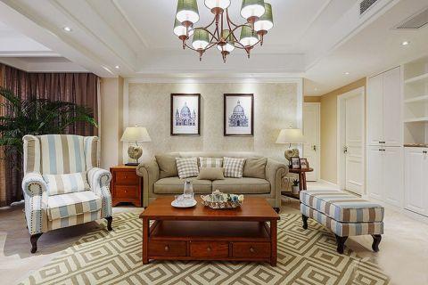 美式客厅茶几装修美图