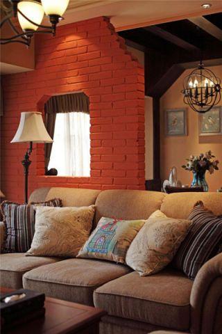 客厅沙发美式室内装修图片