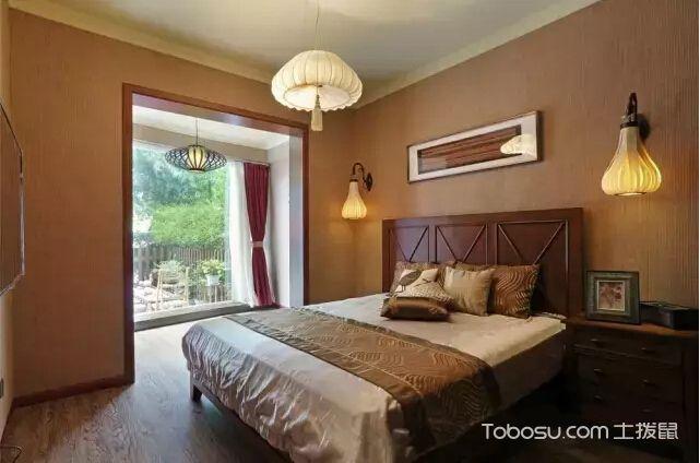 东南亚风格小户型105平米家装设计图
