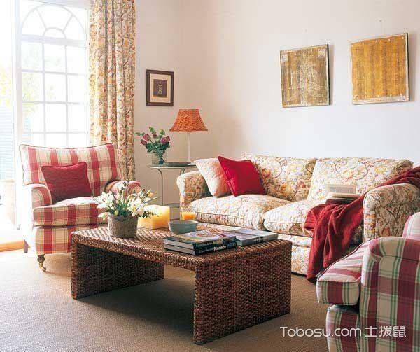 二居室105平米田园风格装修
