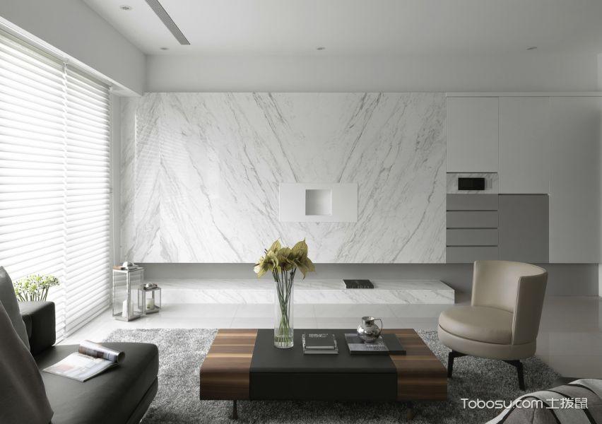 简单低调现代风格三居装修效果图_装修图片