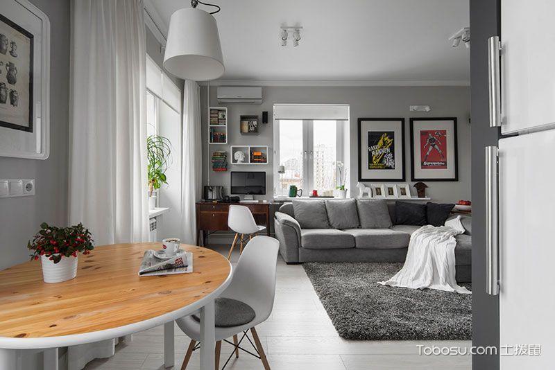 公寓88平米现代风格装修