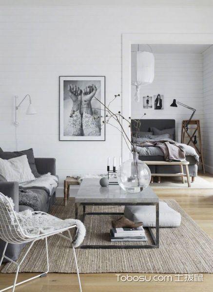 灰色系北欧家居客厅设计_装修图片