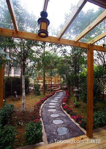 2019美式花园设计图片 2019美式走廊效果图