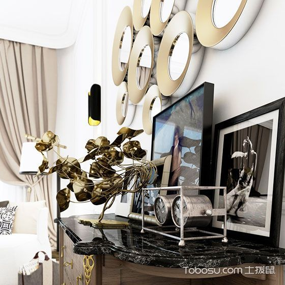 公寓奢华100平米设计图_装修图片 - 装修效果图