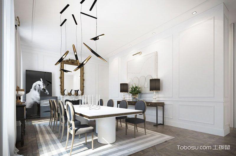 公寓奢华100平米设计图_装修图片