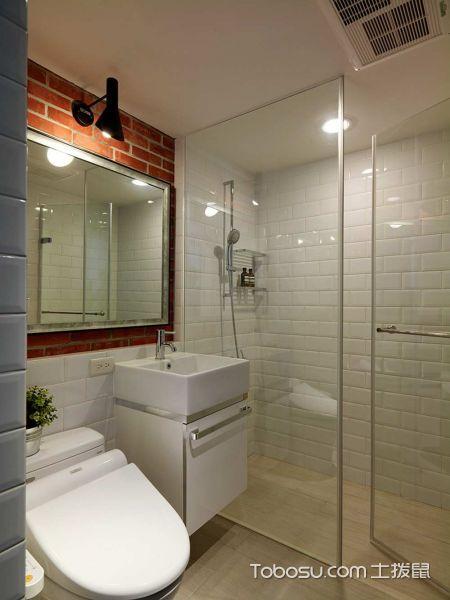 工业风个性摩登简约风格56平一居装潢设计_装修图片