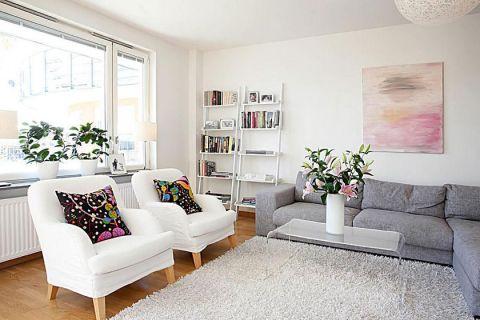简约风格三居室80平米装修
