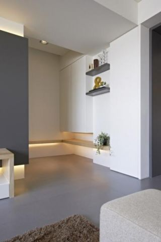 创意灰色客厅实景图