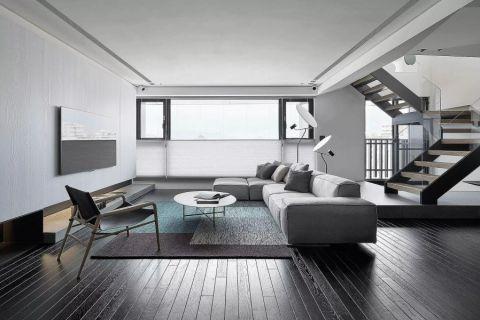 客厅灰色沙发装饰效果图