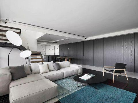 优雅现代灰色沙发装潢图