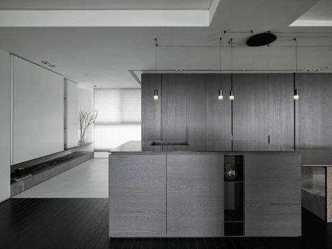 完美灰色厨房装修实景图