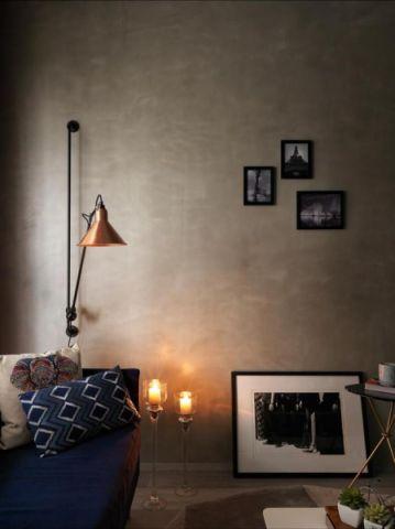 客厅灰色挂画背景墙装修方案