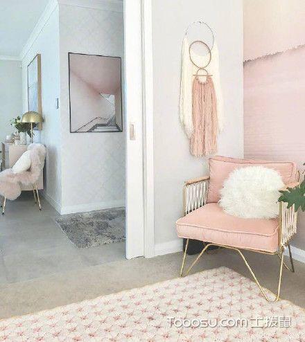 粉色简约二居室设计_装修图片