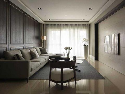 115平米二居室现代简约风格室内装修图片