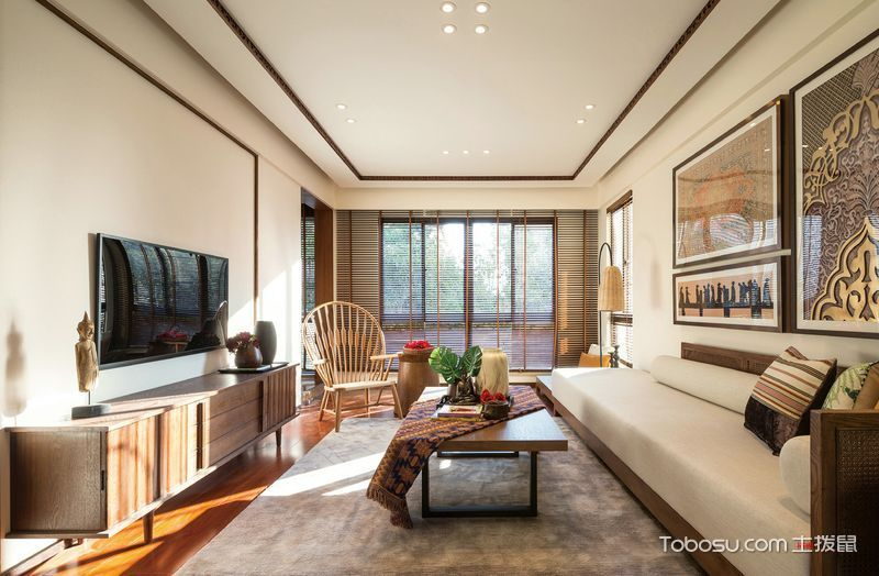 2020东南亚客厅装修设计 2020东南亚吊顶设计图片
