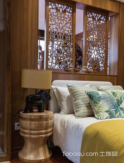 2020东南亚卧室装修设计图片 2020东南亚床图片