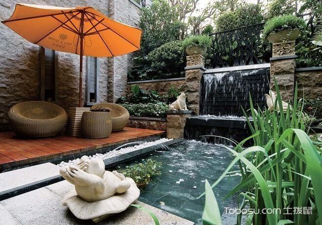 2019新中式花园设计图片 2019新中式地砖装修设计