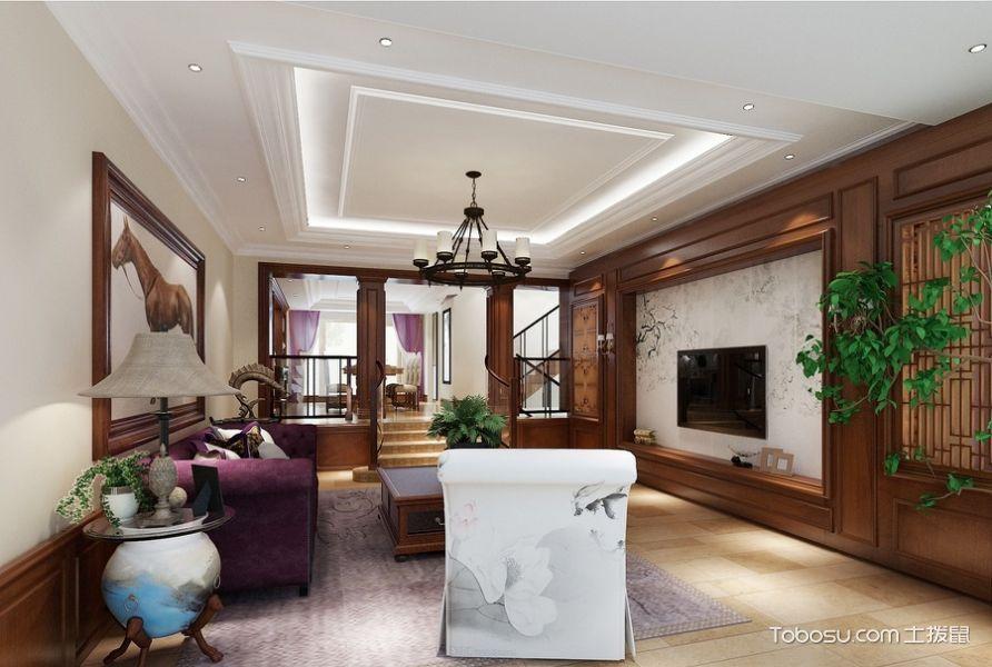 复式133平米中式风格装饰设计