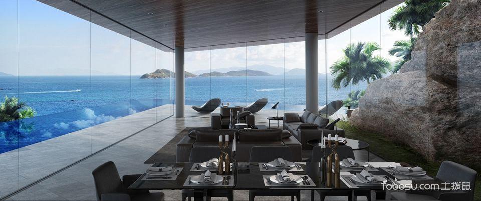 别墅300平米简约风格装潢设计图片