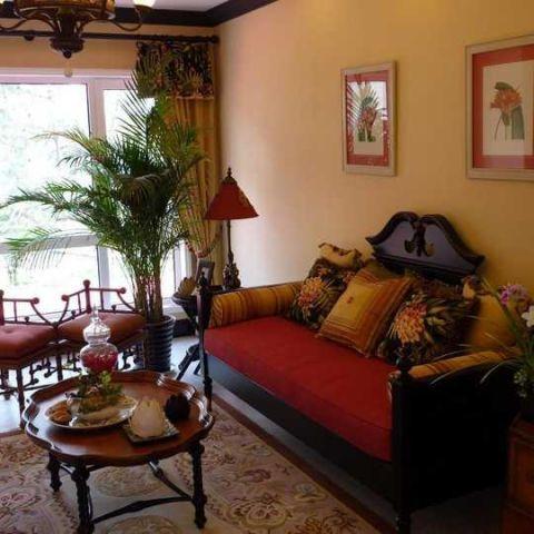 二居室98平米东南亚风格效果图图片