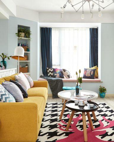 美轮美奂客厅窗帘实景图