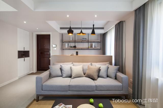 现代简约风格小户型111平米家装设计图