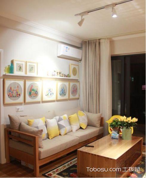 2019現代中式90平米裝飾設計 2019現代中式三居室裝修設計圖片