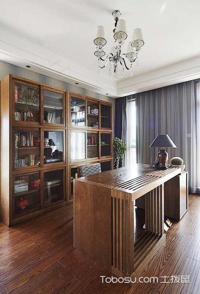 2020东南亚书房装修设计 2020东南亚书桌图片