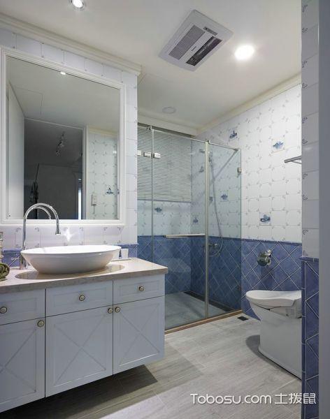 淡雅美式风格90方两居装潢设计_装修图片