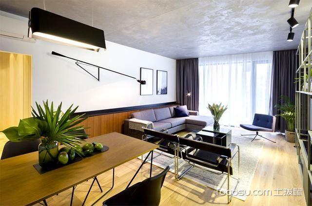 公寓83平米现代简约风格装潢设计图片