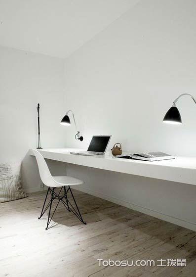 创意实用白色工作区设计_装修图片